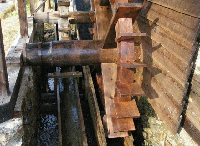Mühlrad der Wassermühle
